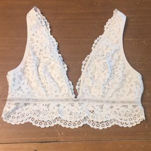 Victoria's Secret White Lace Bralette Sz Large